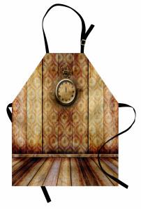 Nostaljik Saat Mutfak Önlüğü Antik Nostaljik Retro
