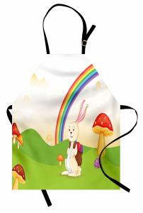 Çocuklar İçin Mutfak Önlüğü Gökkuşağı Tavşan