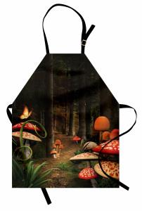 Büyülü Mantar Temalı Mutfak Önlüğü Şık Tasarım