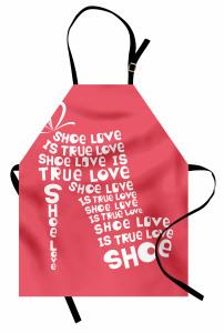Ayakkabı Tutkununa Özel Mutfak Önlüğü Kırmızı