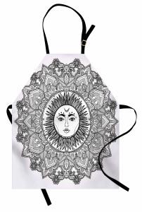 Güneş Tanrısı Desenli Mutfak Önlüğü Güneş Tanrısı Desenli