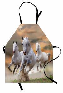 Koşan Atlar Mutfak Önlüğü Özgür Beyaz Atlar