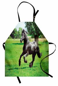 Çayırda Koşan At Mutfak Önlüğü Çayırda Koşan At