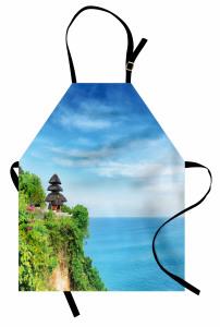 Cennet Tapınağı Temalı Mutfak Önlüğü Mavi Deniz