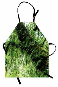 Orman Manzaralı Mutfak Önlüğü Yeşil Ağaç Doğa