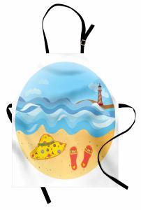 Deniz Feneri ve Kumsal Mutfak Önlüğü Deniz Feneri Kumsal