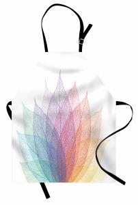 Yaprak Desenli Mutfak Önlüğü Rengarenk Şık Çeyizlik