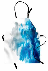 Girdap Temalı Mutfak Önlüğü Mavi Beyaz Şık Tasarım