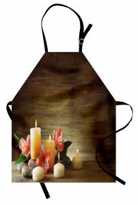 Mum ve Spa Taşları Mutfak Önlüğü Kahverengi