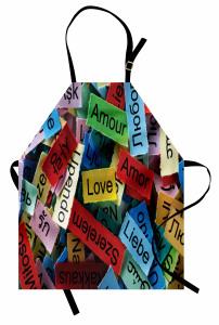 Her Dilde Aşk Mutfak Önlüğü Her Dilde Aşk Temalı Romantik