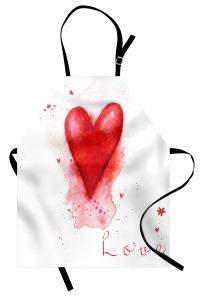Kalp ve Çiçekler Mutfak Önlüğü Kalp ve Çiçekler