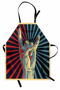 Rockçı Genç Mutfak Önlüğü Nostaljik