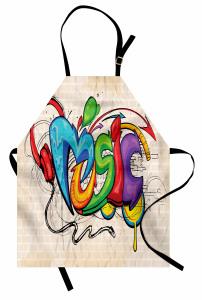 Rengarenk Sokak Sanatı Mutfak Önlüğü Sokak Sanatı Temalı Müzik