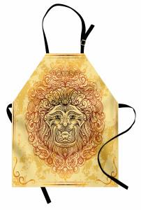 Etnik Süslemeli Aslan Mutfak Önlüğü Etnik Süslemeli Aslan Modern Sanat