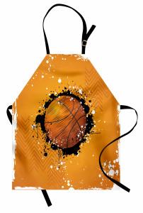 Basketbol Topu Desenli Mutfak Önlüğü Basketbol Topu Desenli Spor