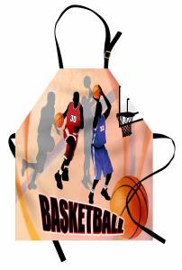 Basketbol Maçı Mutfak Önlüğü Nostaljik Poster Etkili