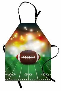 Amerikan Futbolu Temalı Mutfak Önlüğü Yeşil Kahverengi