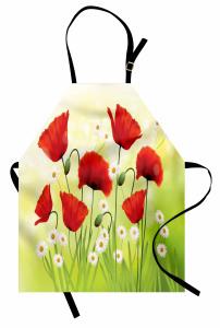Baharın Çiçekleri Mutfak Önlüğü Gelincik Papatya