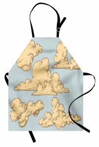 Mavi Gökyüzü ve Bulut Mutfak Önlüğü Dekoratif