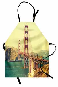 Kırmızı Köprü ve Gemi Mutfak Önlüğü Nostaljik