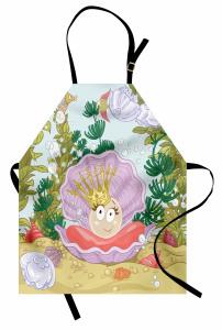 Prenses İnci ve Balık Mutfak Önlüğü Prenses İnci ve Balıklar