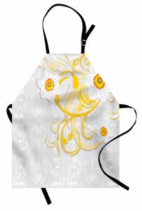 Şık Papatya Desenli Mutfak Önlüğü Çeyizlik Çiçekli Tasarım