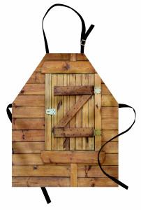 Ahşap Pencere ve Duvar Mutfak Önlüğü Dekoratif