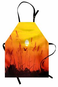 Güneş Sazlık ve Kuşlar Mutfak Önlüğü Sarı