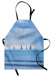 Okyanus Yolculuğu Mutfak Önlüğü Okyanusta Yolculuk Temalı Yelkenli