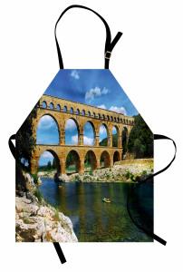 Tarihi Köprü Mutfak Önlüğü Nehir Otantik
