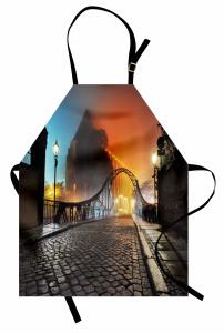 Romantik Yürüyüş Yolu Mutfak Önlüğü Otantik Köprü