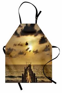 Romantik Gün Batımı Mutfak Önlüğü Doğada Huzur