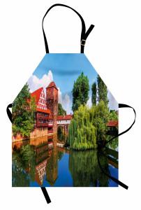 Nehirdeki Ahşap Ev Mutfak Önlüğü Nehirde Ahşap Ev