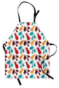 Ananas ve Palmiye Mutfak Önlüğü Rengarenk