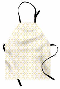 Sarı Yonca Desenli Mutfak Önlüğü Şık Tasarım Sarı Yonca Desenli