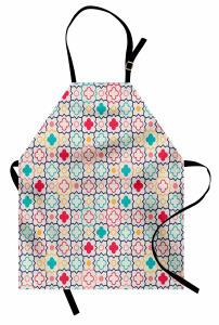 Dekoratif Çiçek Desenli Mutfak Önlüğü Şık Tasarım Yonca Desenli