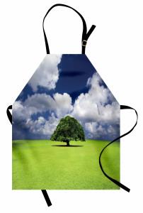Yaşlı Ağaç Mutfak Önlüğü Yeşil Yaşlı Ağaç