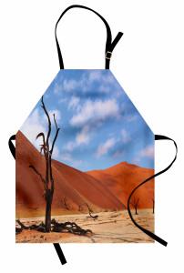 Namibya Çöl Manzarası Mutfak Önlüğü Çöl Manzaralı Namibya