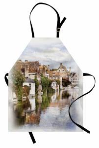 Brugge Kanalı Mutfak Önlüğü Gotik Mimari