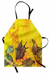 Deniz Kabuğu Desenli Mutfak Önlüğü Deniz Kabuğu Sualtı Yaşam Temalı