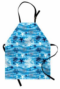 Su Altı Yaşamı Mutfak Önlüğü Deniz Yıldızı Mavi