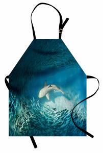 Balık Temalı Mutfak Önlüğü Turkuaz Deniz Köpek Balığı