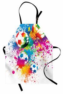 Futbol Topu Mutfak Önlüğü Rengarenk Şık Tasarım