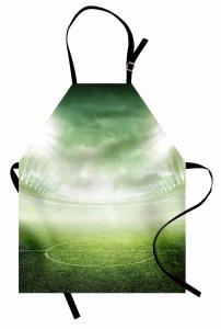 Futbol Sahası Mutfak Önlüğü Yeşil Saha