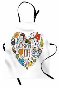 Spor Aşkı Mutfak Önlüğü Futbol Basketbol Kupa