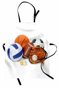 Top Desenli Mutfak Önlüğü Futbol Basketbol Top