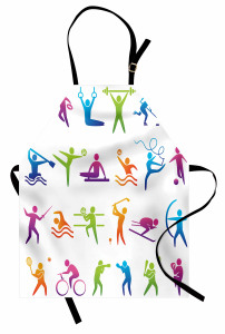 Spor Türleri Mutfak Önlüğü Rengarenk Spor Türleri