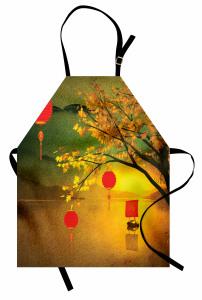 Göl Fener ve Yelkenli Mutfak Önlüğü Sonbahar
