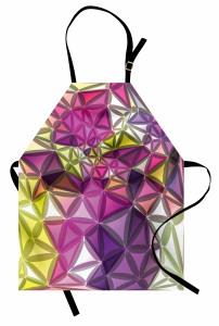 Rengarenk Geometrik Mutfak Önlüğü Dekoratif