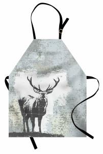 Geyik Tasarımlı Modern Mutfak Önlüğü Modern Sanat Tasarım